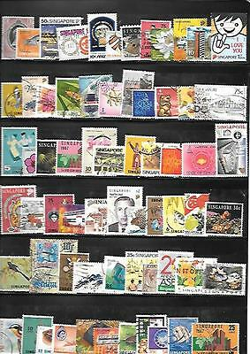 Singapore Stamps - 65+ Different Used.