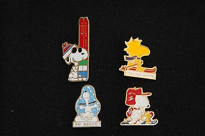 Snoopy and Woodstock ski pins