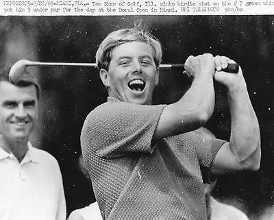 Vintage Original Golf Photograph Tom Shaw Doral Open Miami 1969