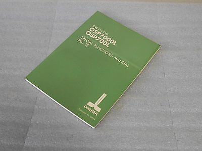 Okuma CNC System Special Function Manual (No. 3), OSP7000L, 3817-E, Used