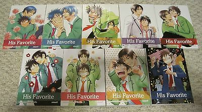 His Favorite by Suzuki Tanaka vols 1-9 Yaoi/ BL boys love manga English