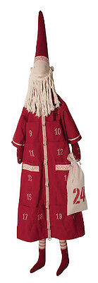 Maileg - Danish Nisse Pixy Christmas Countdown Advent Calendar - Santa - Red