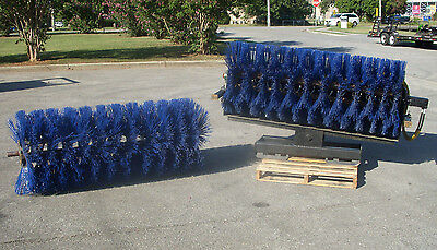 "Bobcat Skid Steer Attachment -72"" Manual Angle Sweeper + Extra Broom - Free Ship"