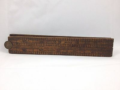 Vintage Stanley Carpenter's Rule Number 163 Brass 24 inch GREAT PATINA