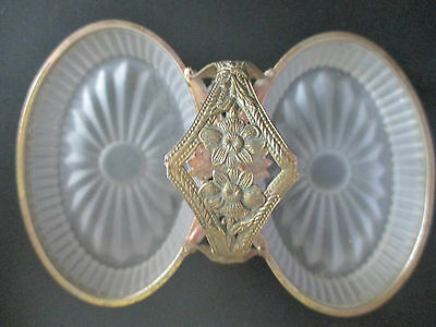 Antique Ormolu Double Tray Frosted Glass