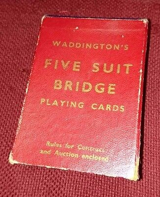 Five Suit Bridge Playing Cards - Waddingtons