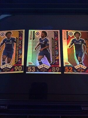 Match Attax 2016 2017 16 17 Limited Edition Set Of 3 Willian Bronze Silver Gold