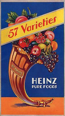 VINTAGE BOOKLET 1930's ADVERTISING HEINZ PRODUCTS THE ORIGINAL 57 VARIETIES