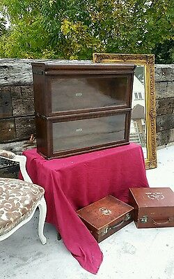 Antique Oak Globe Wernicke Barristers Bookcase - 2 Sections