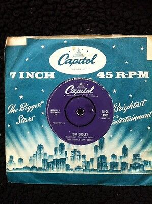 "The Kingston Trio - Tom Dooley / Ruby Red 7"" Vinyl Capitol 45-CL 14951 (1958)"