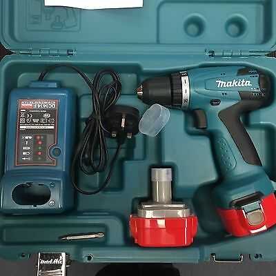 Makita 6271Dwpe 12V Cordless Drill Driver With 2 Batteries& Charger In Case New