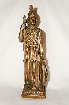 ANTIQUE (RUSSIAN EMPIRE) 19th cent. BRONZE STATUETTE FIGURINE  MINERVA 10.3""