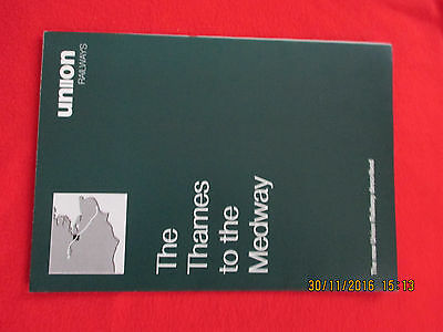 Original&complete Union Railway New Railway Thames-The Medway Leaflet/map