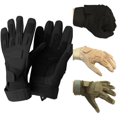 Tactical Military Airsoft Outdoor Sports Motorcycle Armed Full Finger Gloves New