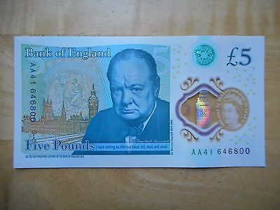 AA £5 Five Pound Note - Rare- Mint Condition