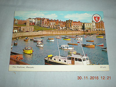 Old Unused Postcard by Elgate of The Harbour Margate, Kent - ET 4285
