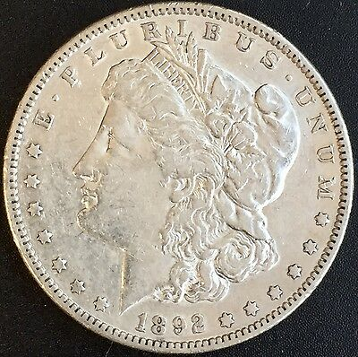 1892 S Morgan Silver Dollar Xf+ Details Better Date Coin