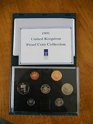 1991 Proof Coin Set - 7 Coins Cased **ideal Birthday Present**
