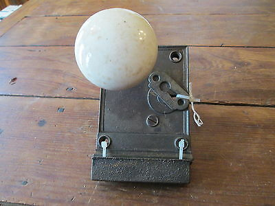 Vintage--White Door Knobs--With Hardware--Free Shipping--#3