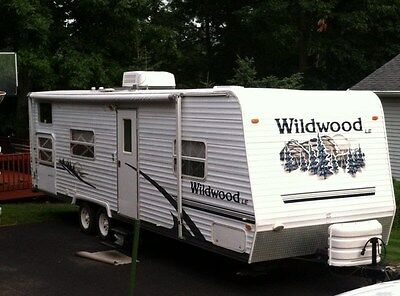 2006 Forest River Wildwood Le Travel Trailer 31' #29Bhs Bunkhouse Full Shower