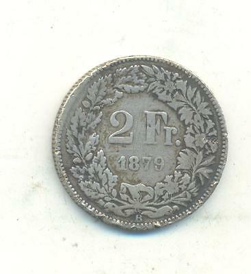 Very Nice Rare.switzerland Two.francs.1879.very Collectable.j.54