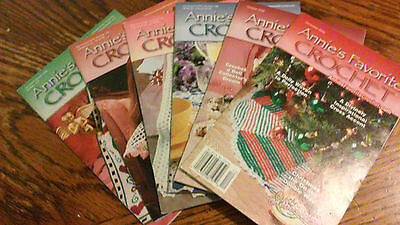 Lot of 6 2000 issues of Annie's Favorite Crochet