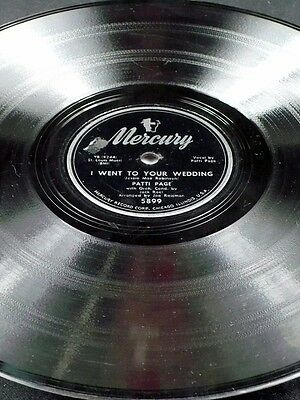 Mercury 5899 Patti Page I WENT TO YOUR WEDDING / YOU BELONG TO ME 78 V+