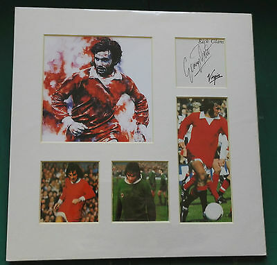 """GEORGE BEST  MANCHESTER UNITED SIGNED DISPLAY. AUTO OUT OF BOOK.12"""" x 12"""" SIZE"""