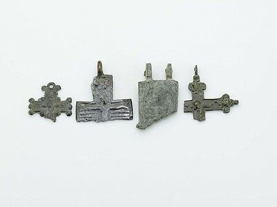 B340. Roman / Byzantine crosses, artifacts FRAGMENTS lot of four