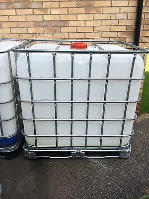1000 Litre IBC Water Storage Tank - Clear - Perfect Condition.