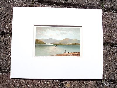 Victorian Nelson's Chromolithograph, ' The Ardgower From Ballachulish', 1895.