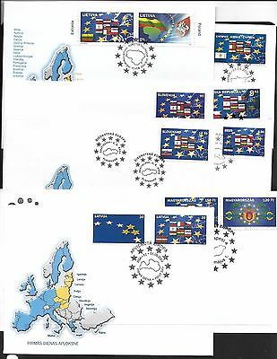 Europa. 2004. New Members. Range FDC's (8)