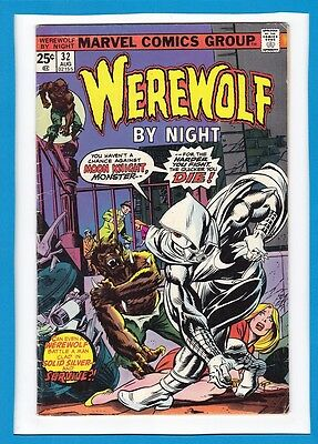 Werewolf By Night #32_August 1975_Very Good+_First Appearance Moon Knight!