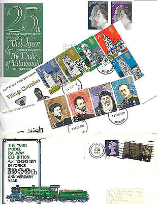 4 x GREAT BRITAIN FDC