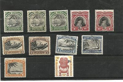 Cook Islands Capt Cook issue values to 6d some duplication also 2c overprint