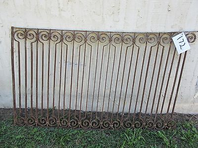 Antique Victorian Iron Gate Window Garden Fence Architectural Salvage Door #172
