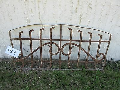 Antique Victorian Iron Gate Window Garden Fence Architectural Salvage Door #154
