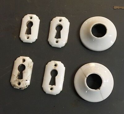 Porcelain Key Hole Covers Door Escutcheons  Door Hardware
