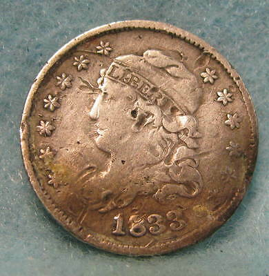 1833 Capped Bust Silver Half Dime * Circulated US Coin #193