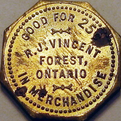 Forest Ontario Canada Good For Token R J Vincent 25 Cents