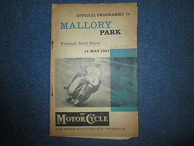 Vintage Mallory Park Road Races May 14 1961 Official Programme