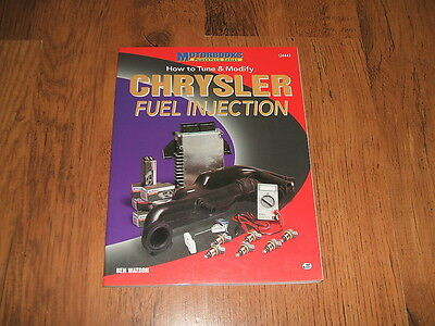 How to Tune & Modify Chrysler Fuel Injection - Ben Watson,1997 book;0760303711.