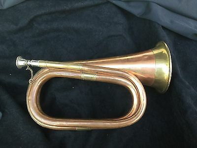 Vintage Military Copper And Brass Bugle