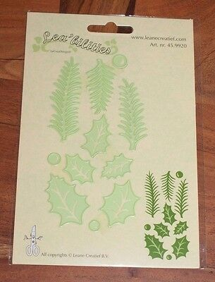 Leane Creatief cutting die  HOLLY LEAVES, PINE BRANCHES 45.9920