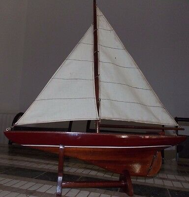 Wooden Sailing Yacht Model