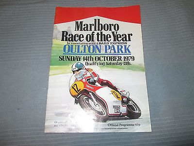 MARLBORO RACE OF THE YEAR OULTON PARK  SUN  OCT 14th 1979 OFFICIAL  PROGRAMME