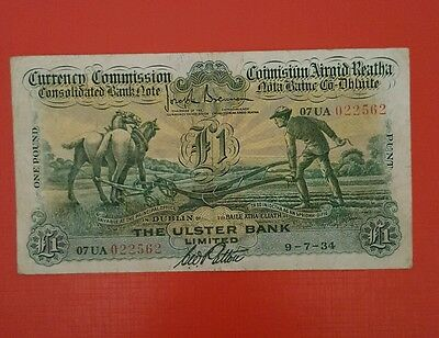 Extremely Rare Irish Ploughman Banknote