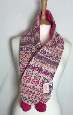 Monsoon/Accessorize Angels Ivory/Pink Embroidered Scarf new (a579h)