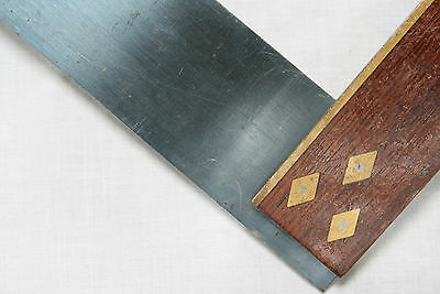 Mitre Square Wood & Brass 9 inch TOGA ENGLAND Vintage Tool