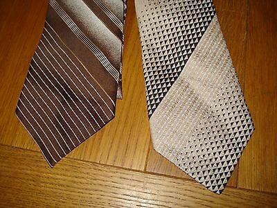 Bundle Vintage mens ties Two In Buff Colour Mainly